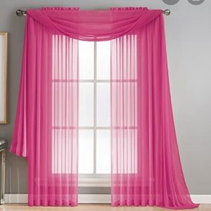 60 x 84 Bright Pink Sheer Curtains